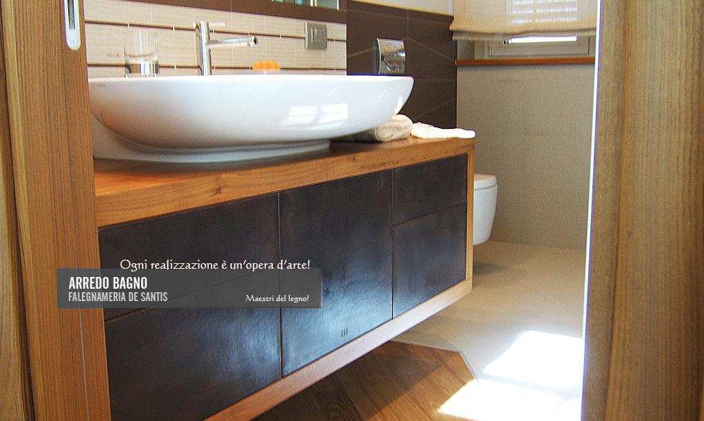 falegnameria de santis - mobili per bagni - Bagni Moderni Legno