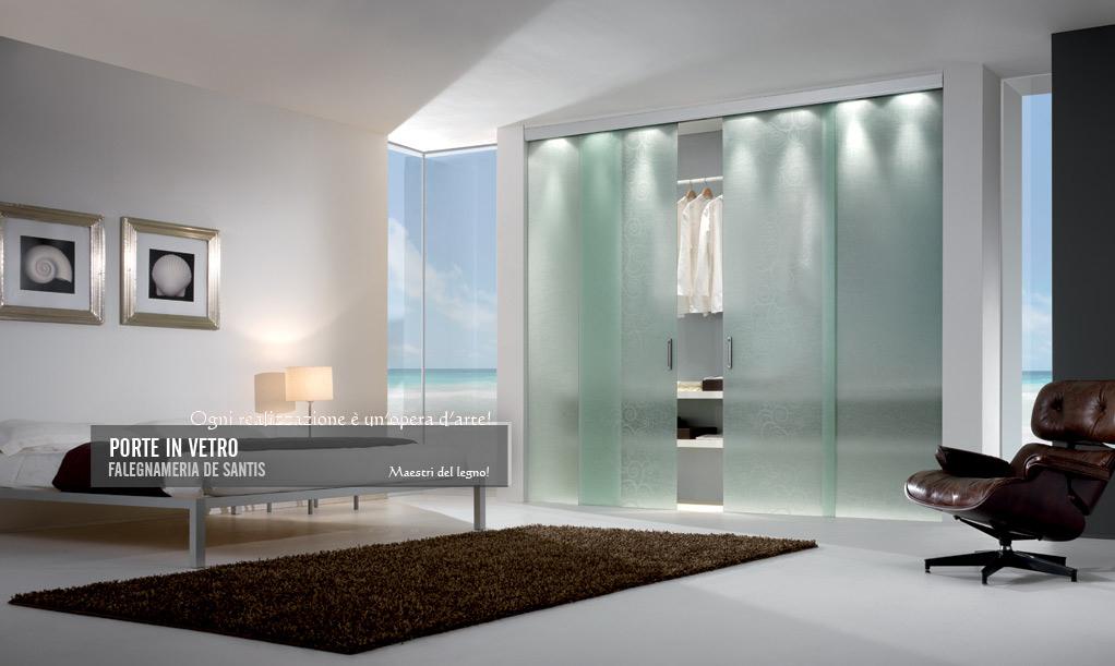 Falegnameria de santis porte in vetro for Mobili stilizzati